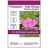 200 Blatt DIN A4 230g/m² Fotopapier Hglossy wasserfest Photopapier hochglänzend high glossy wasserfest