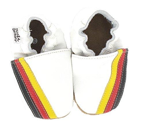 HOBEA-Germany Krabbelschuhe Flagge - Pantuflas para bebés weiß