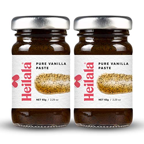 Vanilla Bean Paste for Baking (2 Pack) - Premium Heilala Vanilla Pods, Hand-Selected in Polynesia (Massey Pure Orange Extract)