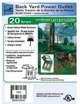 GE ENERGY INDUSTRIAL SOLUTIONS U012010GRP 2GFI Backyard Power Outlet
