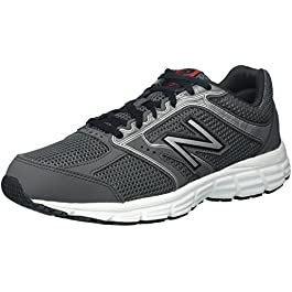 New Balance Men's 460v2 Cushioning Running Shoe, Dark Grey/Silver, 10.5 D US