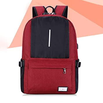 4571e34c7df1 Reichlixin Student Backpack Laptop Anti-theft Backpack Multi ...