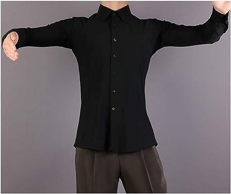 Cheng Peng Ropa de Baile Moderno para Hombre, Ropa de Baile, Trajes de Baile Latino, Tops Negro, XXXL: Amazon.es: Deportes y aire libre