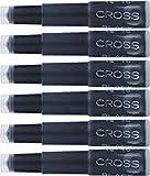 Cross Fountain Pen Cartridge Ink Refills, Black Ink Cartridges, 6 per card (8921)