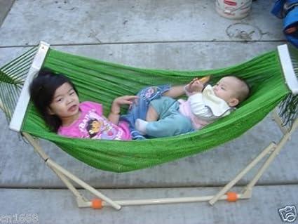 Amazon Com Truong Tho Indoor Outdoor Kid S Hammock Swing Bed With