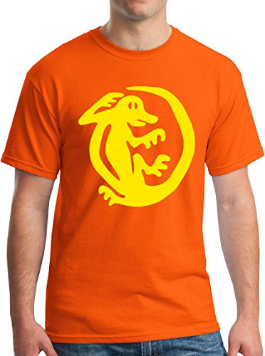 Legends of the Hidden Temple Iguana 90s Kids TV Global Guts Tee XL Orange ()