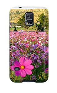 Galaxy S5 Case, Premium Protective Case With Awesome Look - Flower