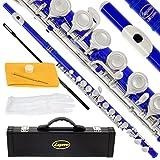 120-BU -ROYAL BLUE/NICKEL Keys Closed C Flute