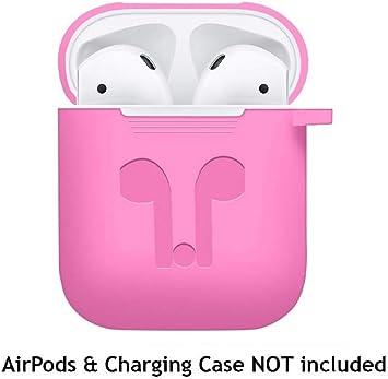 Caja de Protección Para Auriculares ☾Chshe☽ Para Airpods Funda de Silicona Piel Protectora Para Apple Airpod Estuche de Carga (Rosa Fuerte): Amazon.es: Bricolaje y herramientas