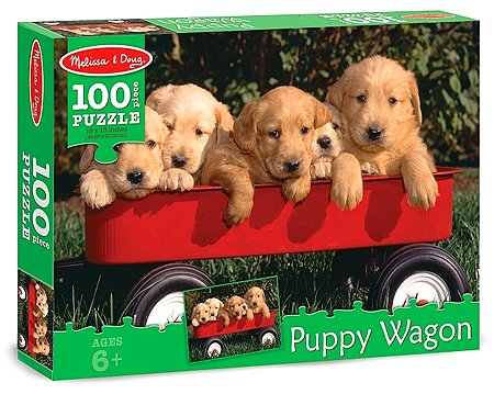 Puppy Wagon Cardboard Jigsaw Puzzle, 100-Piece