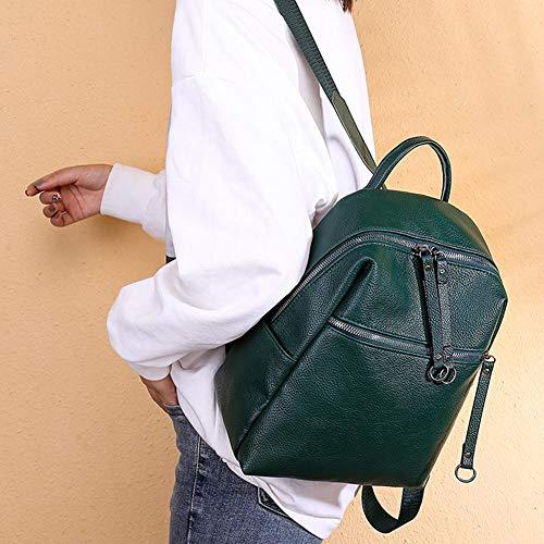 Mujer Sintética Augproveshak De Negro Para Verde Piel Mochila w6RZxqHBvX