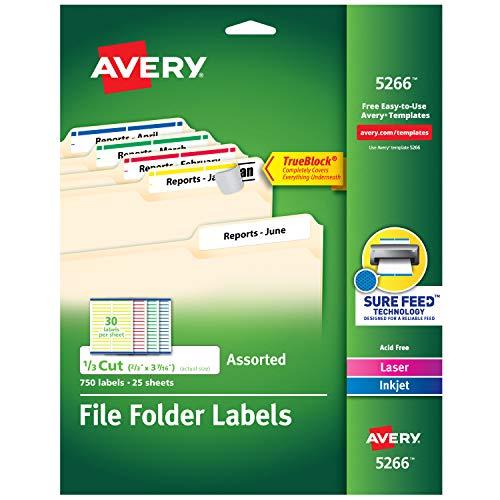Colored File Folder Labels - 1