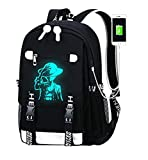 YOYOSHome Luminous Anime One Piece Cosplay Daypack Bookbag Laptop Bag Backpack School Bag with USB Charging Port (Backpack)