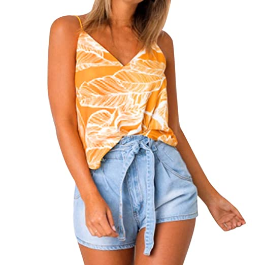 3f9c7d1edf062e Eoeth Women s Mandatory Summer Casual Sleeveless Sexy Tank Floral Print  Lace V-Neck Tops Comfortable