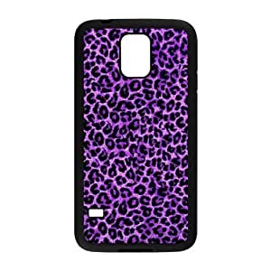 Danny Store Fashion Purple Leopard Protective TPU Rubber Back Fits Cover Case for Samsung Galaxy S5