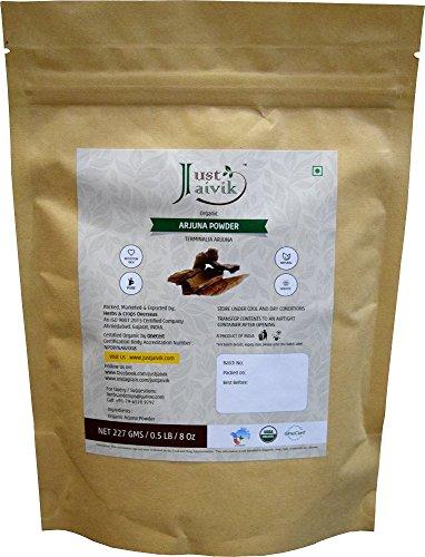 100% Organic Arjuna Bark Powder (Terminalia Arjuna) 1/2 LB, 08 oz, 227g USDA Certified Organic- Biodegradable Resealable Zip Lock Pouch Traditional rejuvenative and tonic for the heart* Heart Tonic