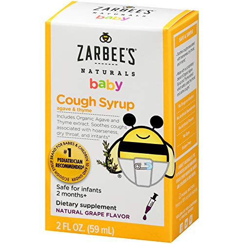 Amazon.com: Zarbee's Naturals Baby Cough Syrup with Agave & Thyme, Natural  Grape Flavor, 2 Ounce Bottle: Health & Personal Care
