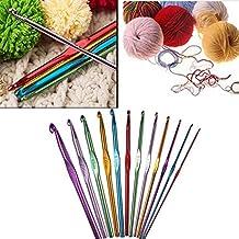 12pcs/Set 2mm-8mm Sewing Tools Aluminium Knitting Needles Kit Crochet Hooks