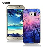 OuDu Silicone Case for Samsung Galaxy S6 Soft TPU Rubber Cover Flexible Slim Case Smooth Lightweight Skin Ultra Thin Shell Creative Design Cover - Forest under the Stars
