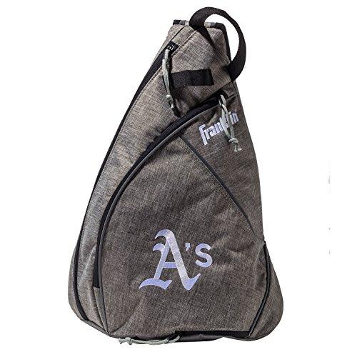 Franklin Sports Oakland Athletics Slingback Baseball Crossbody Bag - Shoulder Bag w/Embroidered Logos - MLB Official Licensed Product