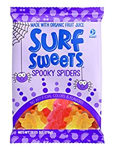 Surf Sweets Spooky Spiders, 2.75-Ounce (Pack of 12)