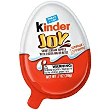 Kinder Joy - Treat and Toy, Sweet Cream Topped with Cocoa Wafer Bites, Surprise Toy Inside, 0.7 oz (20g), Single