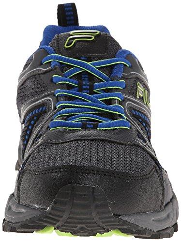 Fila Mens Ascente 15 Trail Running Shoe, Black/Castle Rock/Prince Blue, 9.5 M US