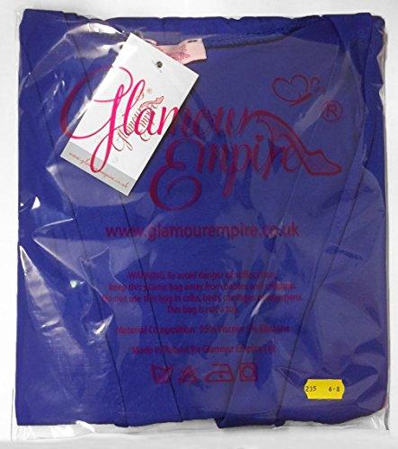Glamour Empire. Para Mujer Skater Sedoso Vestido Cuello Halter del Lazo. 163 Carmesí