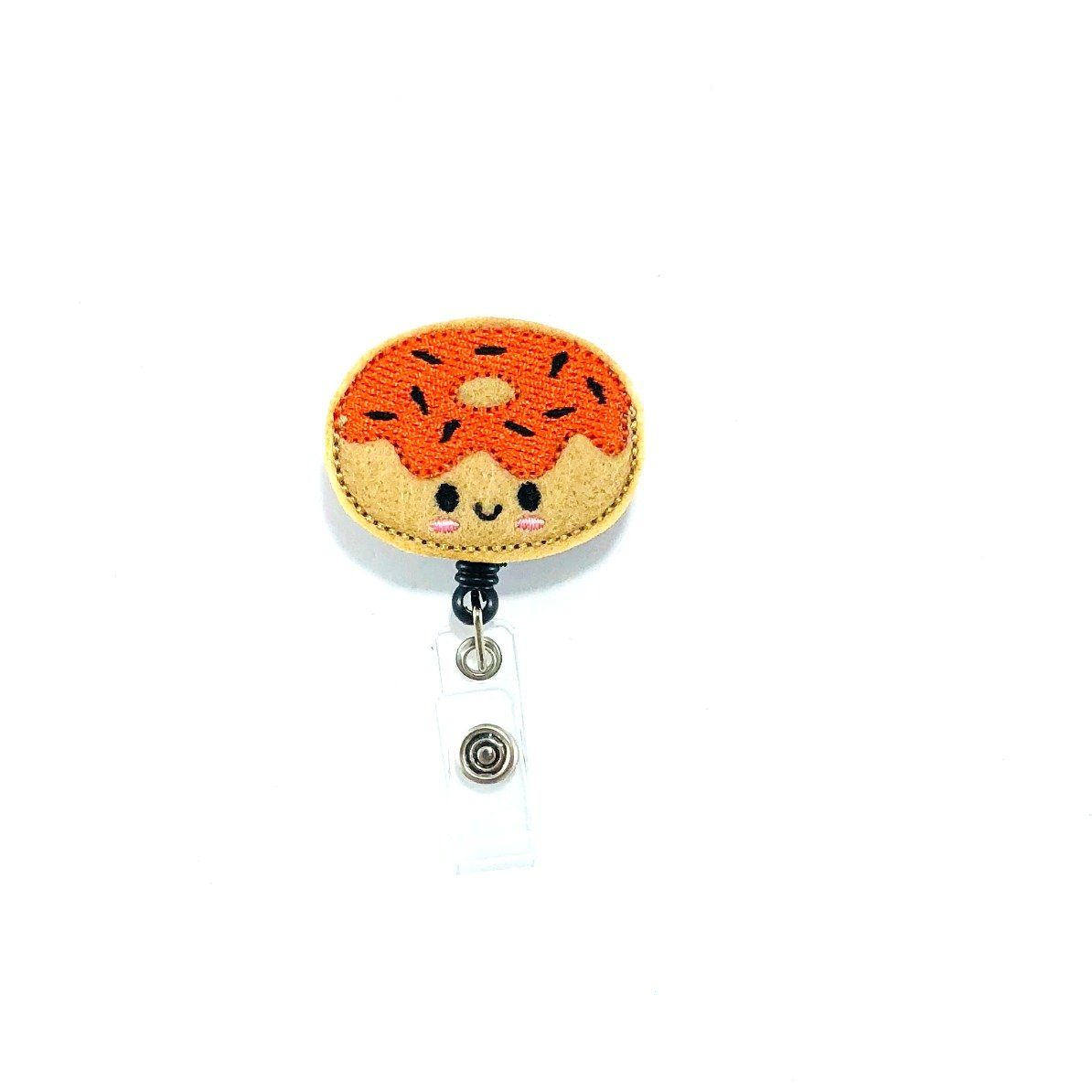 Fall Donut Retractable Badge Reel