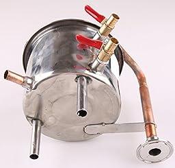 DIY 3 Gal 12 Liters Home Distiller Moonshine Alcohol Still Stainless Boiler Copper Thumper Keg