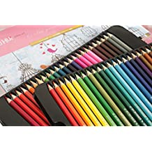 Soul Cre8tive 48-count premium colored art pencils for sketching and drawing coloring book such as Secret Garden. Assorted colours in tin case. Oil-based.