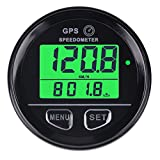 Searon Digital GPS Speedometer Green Backligh with High Speed Recall For Marine ATV UTV Motorcycle Automobile Motor Vehicle