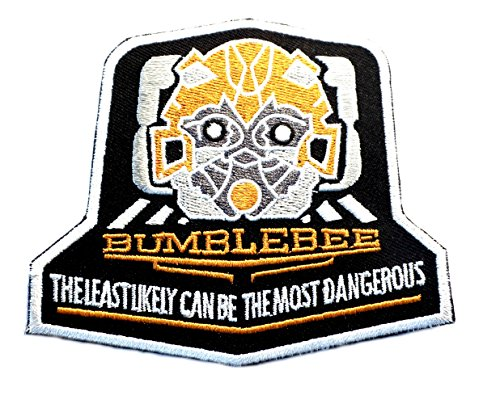 J&C Family Owned Transformers Bumble Bee Embroidered Sew/Iron-on (Transformer Costume Video Bumblebee)