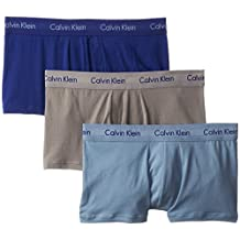Calvin Klein Men's 3-Pack Cotton-Stretch Low-Rise Trunk