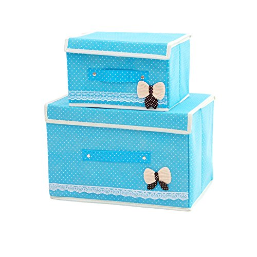 Foldable Storage containers with lids-KYW Heavy Duty Clothes Toys Fabric Storage Boxes-2packs For Home,Kitchen,Bedroom,2000+ Instagram Likes,24 -Hours Customer Support.30-Day,2-Years Warranty(green)