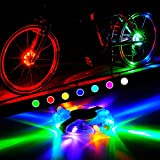 WAYNEWON Rechargeable Bike Wheel Hub Lights, Waterproof LED Cycling Lights, Colorful Bicycle Spoke Lights for Safety Riding Warning and Decoration [1 Pack for 1 Tire] Review