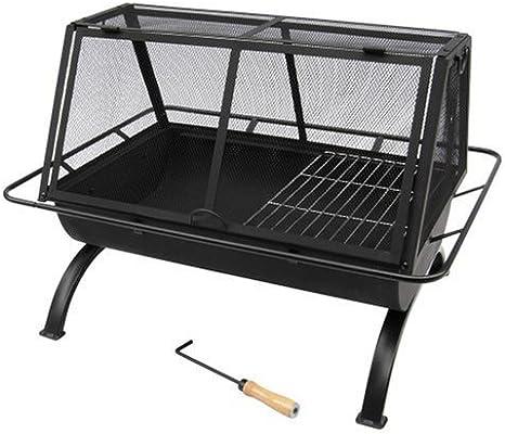 Amazon Com Landmann Usa 28305 Northwoods Outdoor Fireplace Black Large Landmann Fire Pit Garden Outdoor