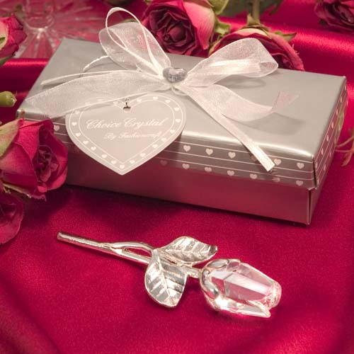 Crystal Long Stem Rose Wedding Favors, 96