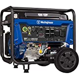10000 Watt Gas Generator - Westinghouse WGen9500 Heavy Duty Portable Generator - 9500 Rated Watts & 12500 Peak Watts - Gas Powered - Electric Start - Transfer Switch & RV Ready - CARB Compliant