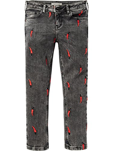Scotch & Soda Petit Ami-Love Is All You Need, Jeans para Niñas Gris (Love Is All You Need 2295)