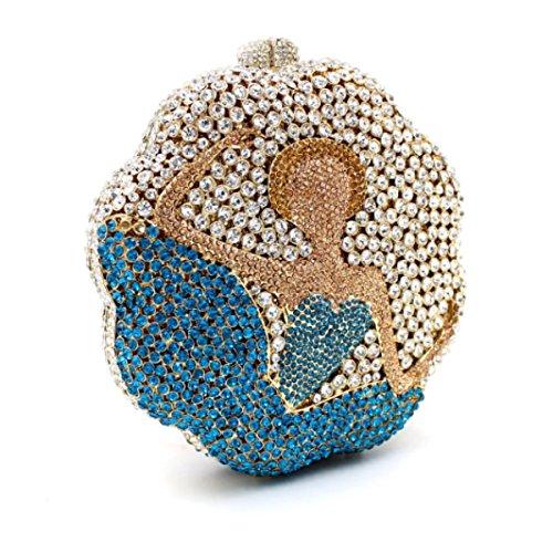 De Femmes Soirée Sac De Sac Luxe De Haute Diamants à Qualité De Banquet Main Onecolor De AdwdqaC
