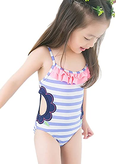 Amazon.co.jp: Plus Nao(プラスナオ) 子供用水着 女の子用 ワンピース ...