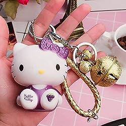 Cadena dominante tridimensional muñeca creativa colgante llavero lindo gato de dibujos animados llavero diy adornos llavero decorativo