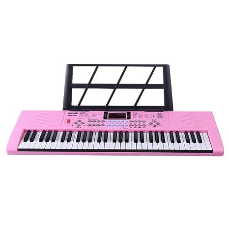 Tosbess Teclado Piano, Piano Digital 61 Teclas, Teclado Electronico Piano Multifuncional Órgano Eléctrico para