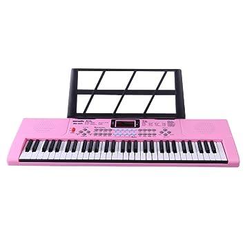 Foxom Piano Infantil, 61 Teclas Piano Electrico Teclados con Micrófono Piano Juguete Musical Regalo para