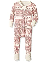 Unisex Baby Organic Zip Front Non-Slip Footed Sleeper Pajamas (Newborn - 24 Months)