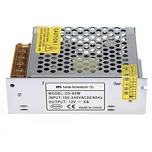 RPS - Alimentatore a LED, trasformatore da 60 W CC 12 V 5 A
