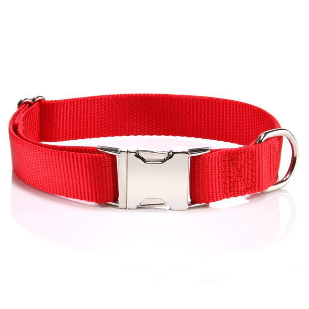 Daeou Daeou Daeou Collari per caniLega di zinco fibbia nylon può regolare il collo del cane 7966e2