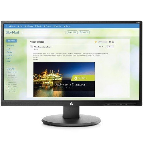 Newest HP 23.8'' Business FHD (1920x1080) LED Backlight Monitor with 2 Integrated Speakers, Tilt and Full Direct Mount - HDMI/ VGA/ DVI Connectivity by HP-Business-Monitor
