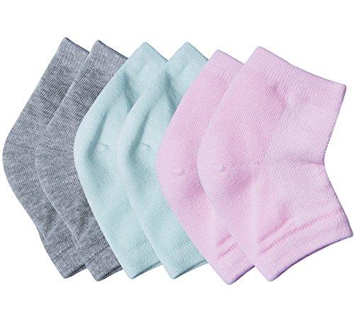 Socks Heel Toe And (3 Pairs Soft Ventilate Gel Heel Socks - Open Toe Socks for Dry Hard Cracked Skin Moisturizing Day Night Care Skin)